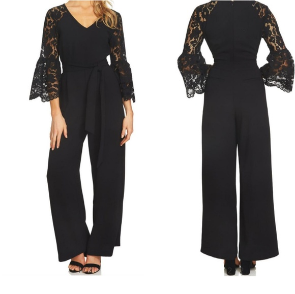 9c4979763ee8 CeCe Pants - CECE Bell lace sleeves Jumpsuit